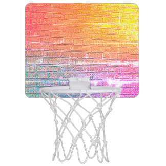 Brick Backed Wall Mini Basketball Hoop