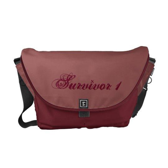 Brick & Bordeaux Medium Survivor Messenger Bag