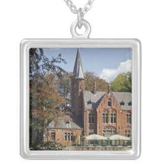 Brick church on Minnewater Silver Plated Necklace