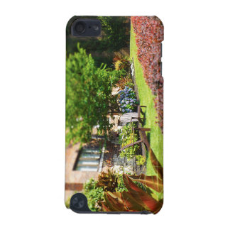 Brick Home Adirondack Wooden Chairs Shrubs Plaza iPod Touch (5th Generation) Cover