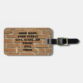 Brick House Luggage Tag
