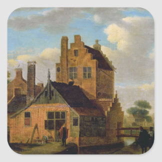 Brick Houses Square Sticker