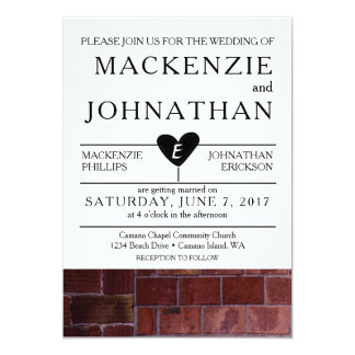 Brick Industrial Wedding Invitation