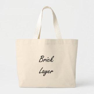 Brick Layer Artistic Job Design Jumbo Tote Bag