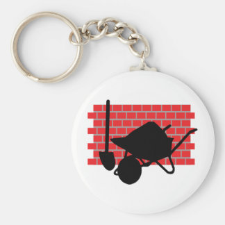 brick layer gear basic round button key ring