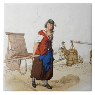 Brick Maker, from 'Costume of Great Britain', publ Large Square Tile
