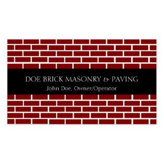 Brick Mason Black/Fire Red Brick Business Cards