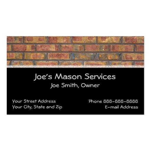 Brick Mason Masonry Business Card