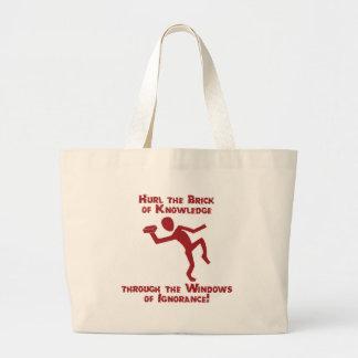 Brick Of Knowledge Jumbo Tote Bag