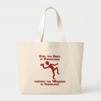 Brick Of Knowledge Large Tote Bag