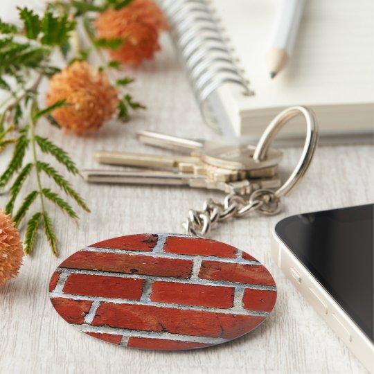 Brick Pattern Button Keychain