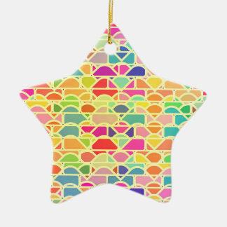 Brick pattern christmas ornament