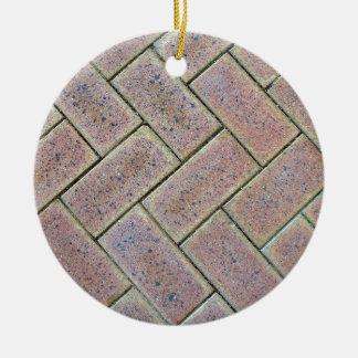 Brick Paving Texture Christmas Ornament