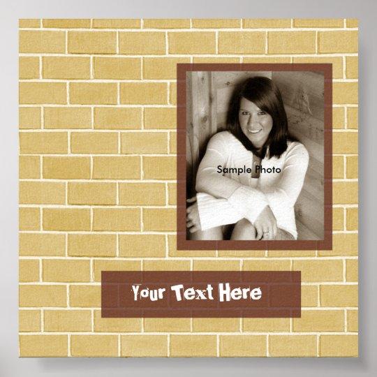 Brick Photo Graduation Autograph Poster