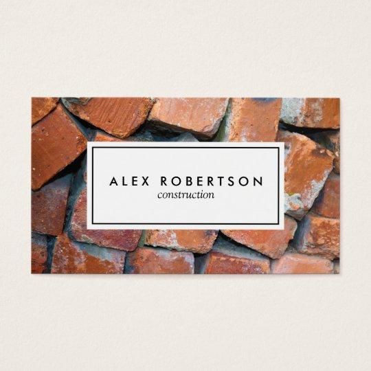 Brick photograph business card