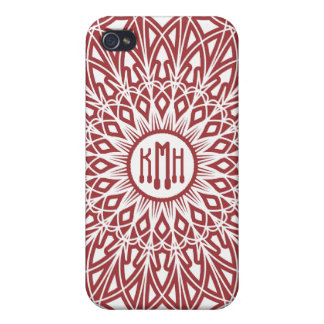Brick Red Crocheted Lace  iPhone 4 Cases