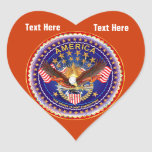 Brick Red Heart Sticker