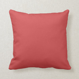 Brick Red Solid Accent Pillow