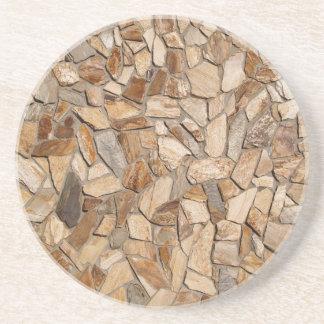 Brick, Rock, Stone Series---Flat Stone Coaster
