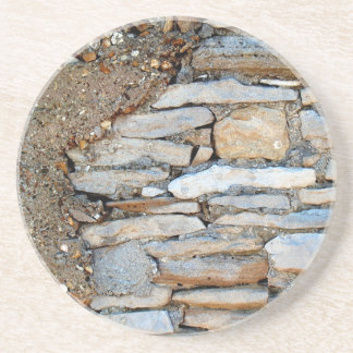 Brick, Rock, Stone Series---Light Stone Coaster
