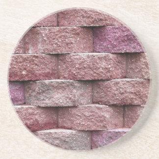 Brick, Rock, Stone Series---Pink Stone Coaster
