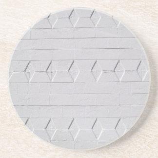Brick, Rock, Stone Series---White Diamond Texture Beverage Coaster