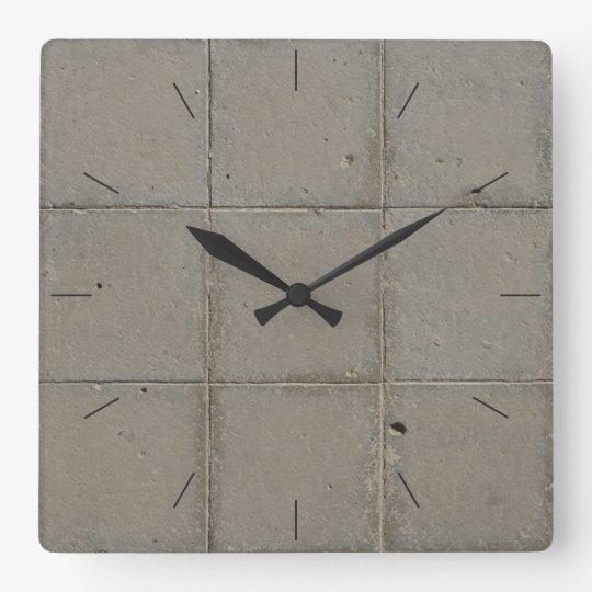 BRICK TILES   industrial decor Square Wall Clock