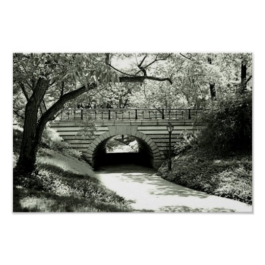 Brick Underpass and Path in Central Park Poster