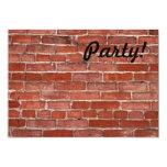 """Brick Wall 5"""" X 7"""" Invitation Card"""