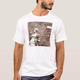 Brick Wall and Statue of Woman T-Shirt