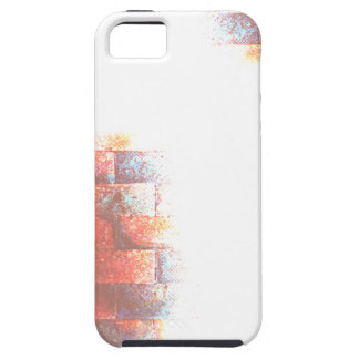 Brick Wall and White Space. Digital Art. Case For The iPhone 5