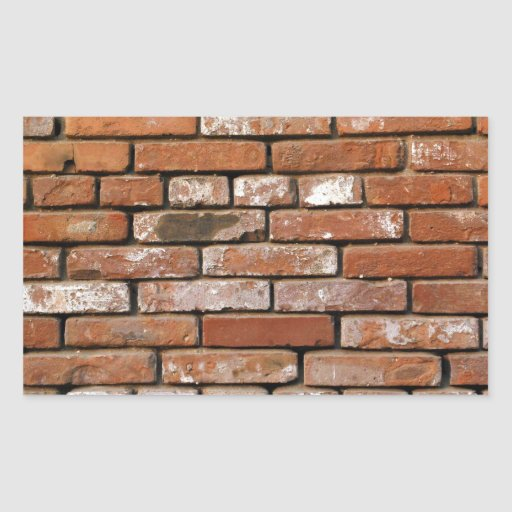 Brick wall background rectangular sticker zazzle for Brick wall mural decal