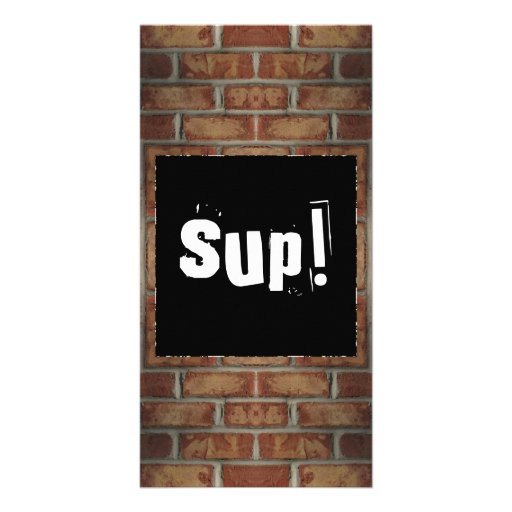 Brick Wall Book Mark Photo Greeting Card