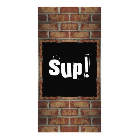 Brick Wall Book Mark Photo Greeting Card