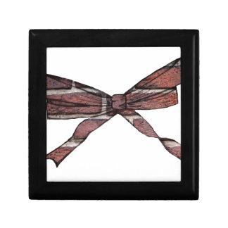 Brick wall bow small square gift box