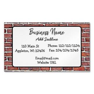 Brick Wall Business Information Magnetic Card