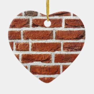 Brick wall ceramic heart decoration