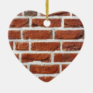 Brick wall christmas ornament