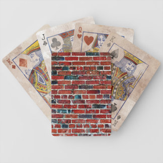 Brick Wall Cool Texture Bicycle Playing Cards