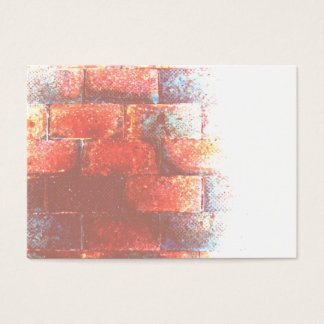 Brick Wall. Digital Art. Business Card