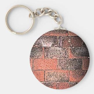 Brick Wall. Digital Art. Key Ring