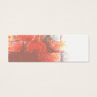 Brick Wall. Digital Art. Mini Business Card