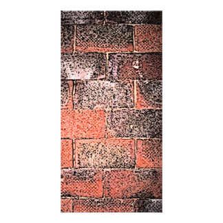 Brick Wall Digital Art Photo Card Template