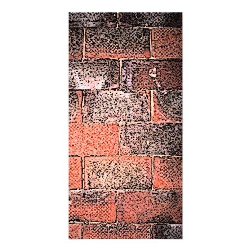 Brick Wall. Digital Art. Photo Card Template