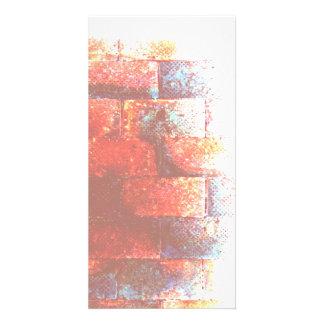 Brick Wall Digital Art Photo Greeting Card