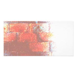 Brick Wall. Digital Art. Photo Card