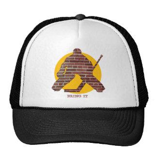 Brick Wall Hockey Goalie Cap