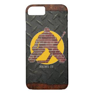 Brick Wall Hockey Goalie iPhone 7 Case