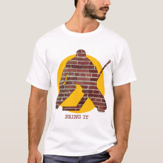 Brick Wall Hockey Goalie T-Shirt