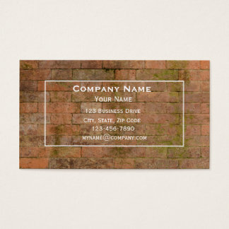 Brick Wall Masonry Business Card